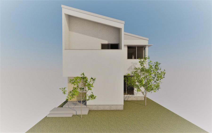 190903 近江モデルハウス 外観パース 画像1